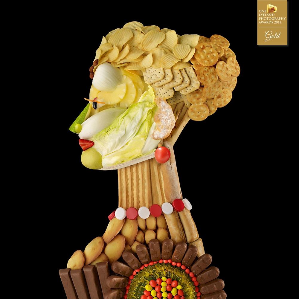 oneyeland, gold, advertising, food, N&W, Necta, premio, award