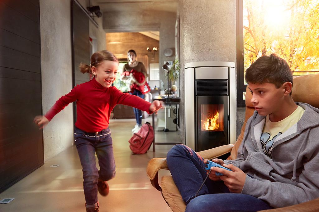 jolly mec fuoco camino stufa pellet calore bambini