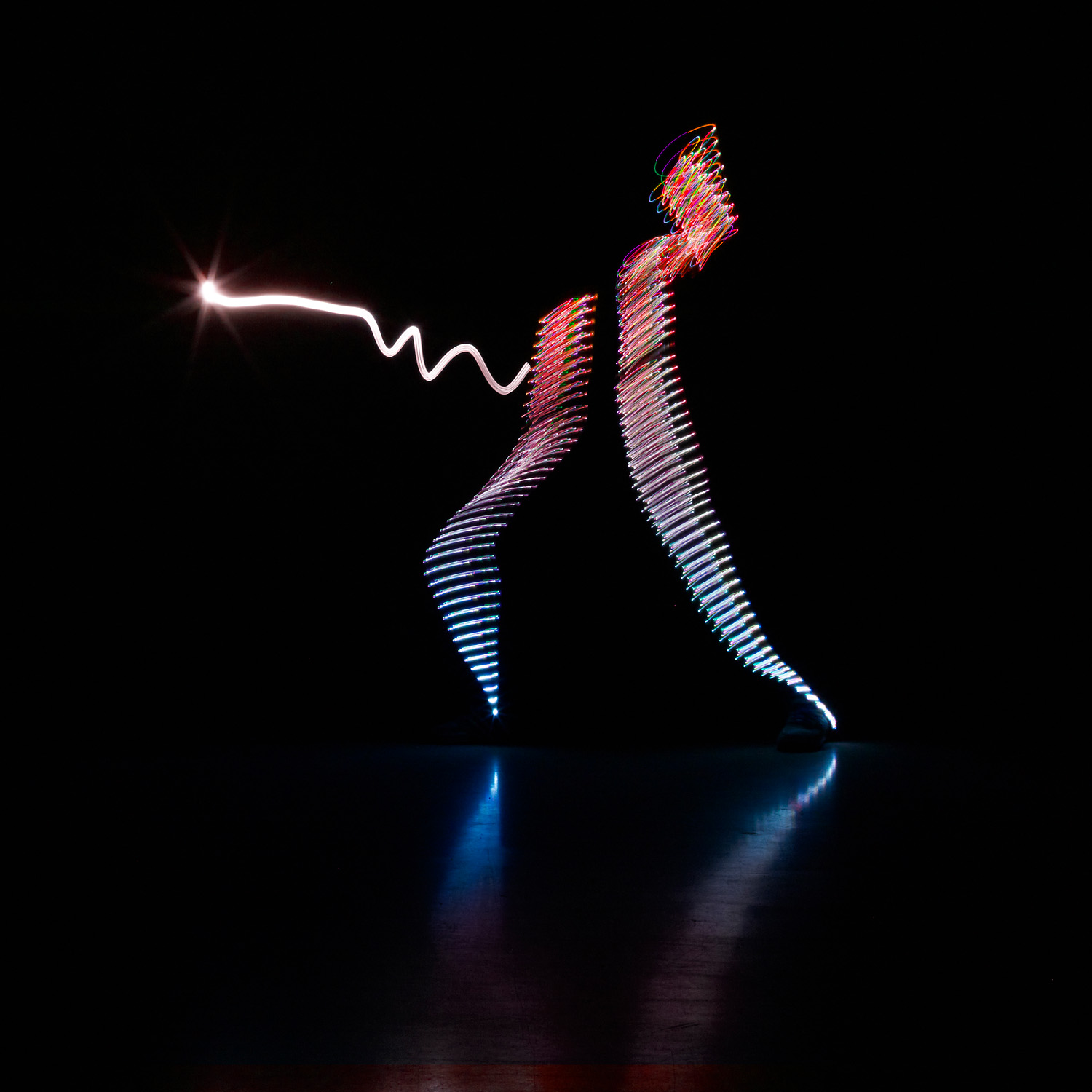 scherma calendario fencing light painting